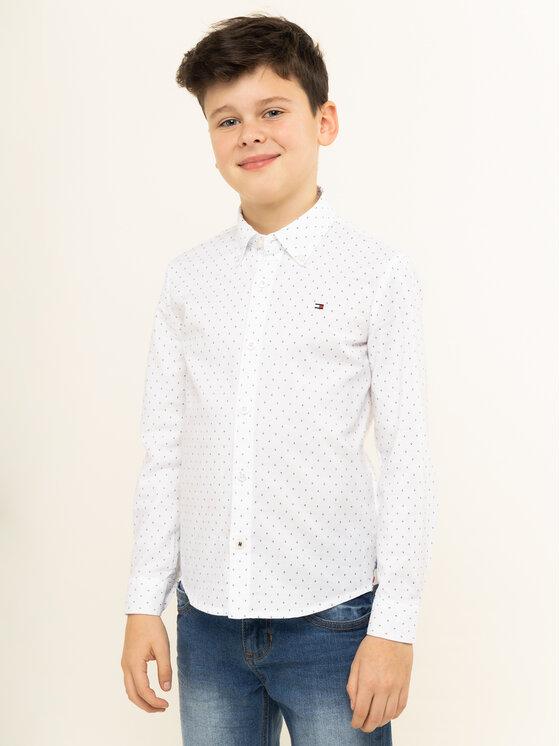 Tommy Hilfiger Tommy Hilfiger Koszula Oxford KB0KB05097 D Biały Regular Fit