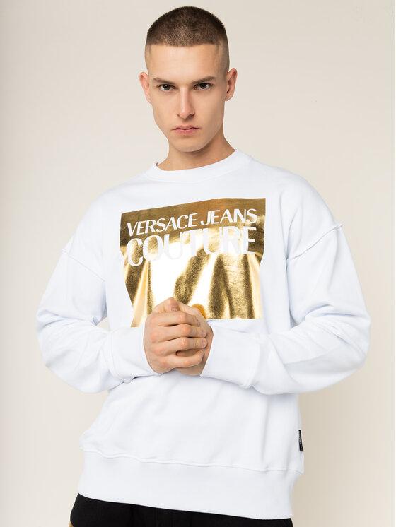 Versace Jeans Couture Versace Jeans Couture Суитшърт B7GVA7TK Бял Regular Fit
