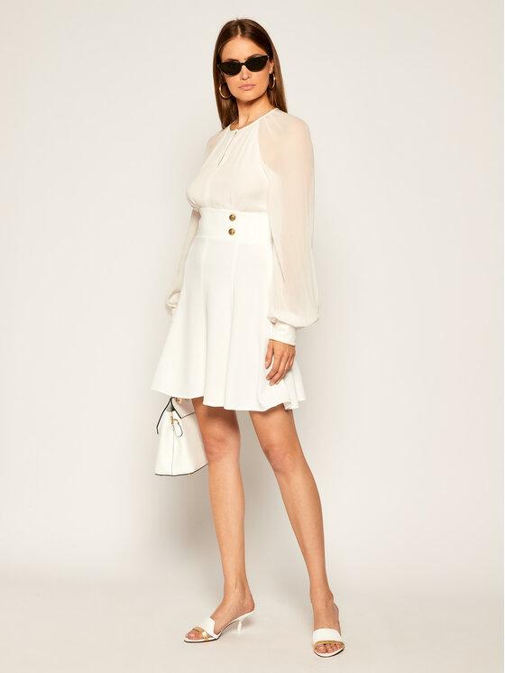 Pinko Pinko Kokteilinė suknelė Romeo AI 20-21 BLK0 1G150H Y6DR Balta Regular Fit