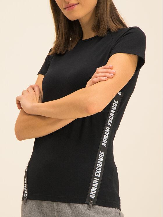Armani Exchange Armani Exchange Marškinėliai 3HYMAN YJ90Z 1200 Juoda Slim Fit