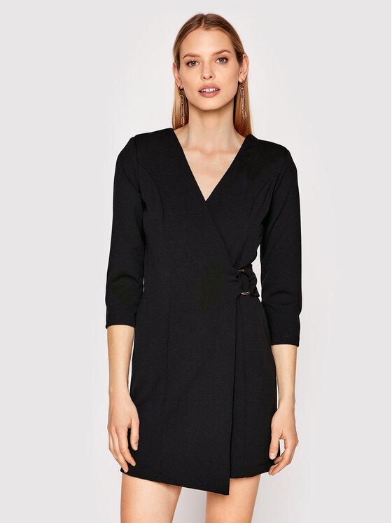 Rinascimento Kokteilinė suknelė CFC0017805002 Juoda Slim Fit