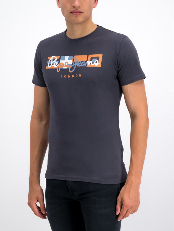 Pepe Jeans Pepe Jeans T-Shirt Dean PM506537 Szary Slim Fit