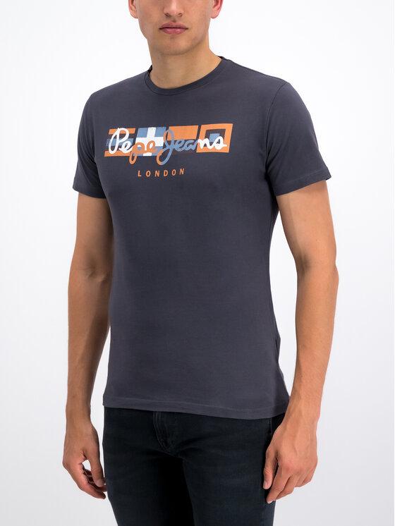 Pepe Jeans Pepe Jeans Tricou Dean PM506537 Gri Slim Fit
