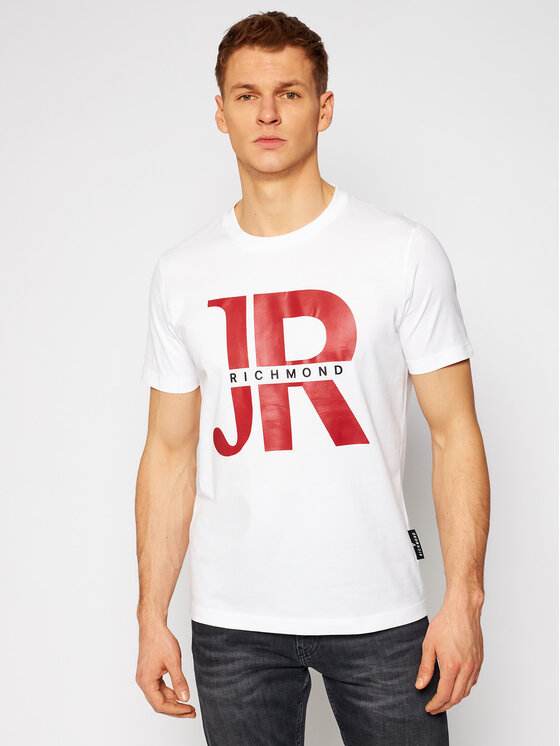 John Richmond T-Shirt Piggen UMP21046TS Biały Regular Fit