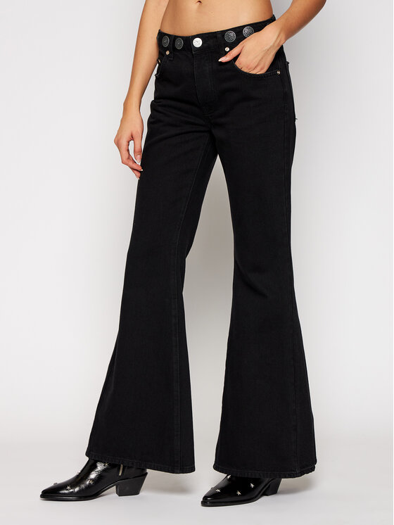 One Teaspoon Jeansy Relaxed Fit Marines 23669 Juoda Relaxed Fit
