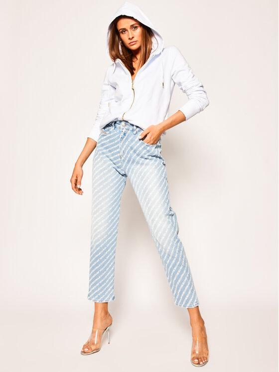 Versace Jeans Couture Versace Jeans Couture Суитшърт B6HVA70T Бял Regular Fit