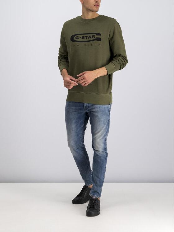 G-Star Raw G-Star Raw Bluza D14727-B715-724 Zielony Regular Fit