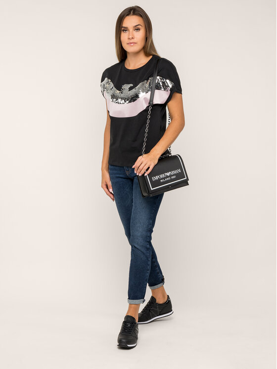 Emporio Armani Emporio Armani T-shirt 6G2T7C 2J50Z 0999 Nero Regular Fit