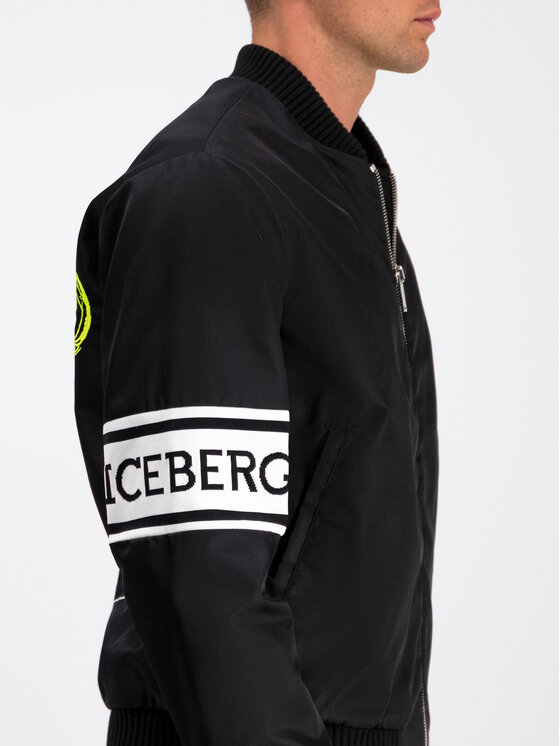 Iceberg Iceberg Bomber bunda 19I1P0O0915347 Čierna Regular Fit