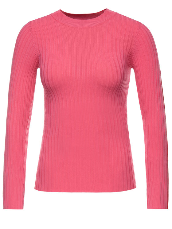 Guess Guess Sweter W93R77 Z2G30 Różowy Slim Fit