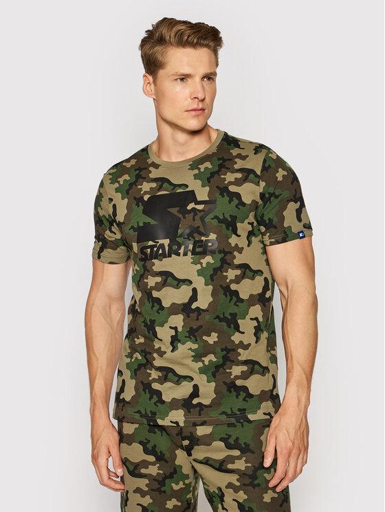 Starter Marškinėliai SMG-009-BD Žalia Regular Fit