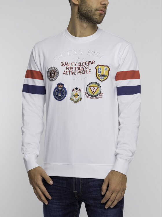 Guess Guess Sweatshirt M92Q22 K8GV0 Weiß Regular Fit