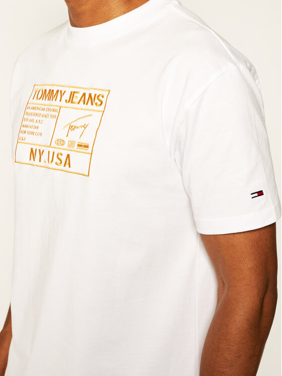Tommy Jeans Tommy Jeans T-Shirt Tjm Gold Embroidery DM0DM07848 Λευκό Regular Fit