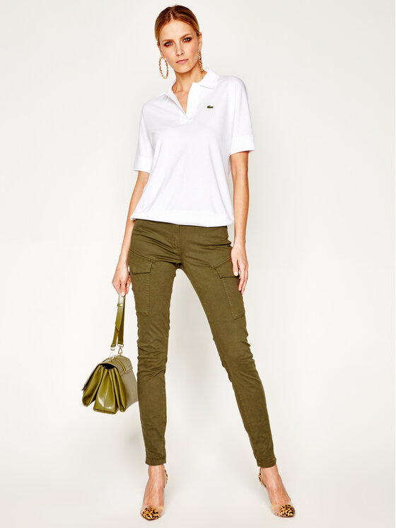 Lacoste Lacoste Polo marškinėliai PF0504 Balta Regular Fit