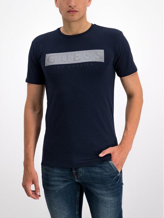 Guess Guess T-shirt M93I36 J1300 Bleu marine Super Slim Fit