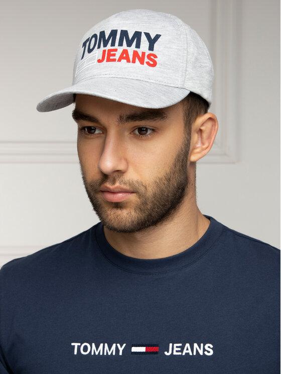 Tommy Jeans Tommy Jeans Καπέλο Jockey Tju Flock Cap AU0AU00364 Γκρι