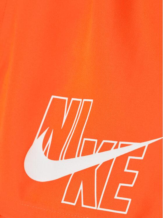 Nike Nike Szorty kąpielowe Logo Solid NESSA771 Pomarańczowy Standard Fit