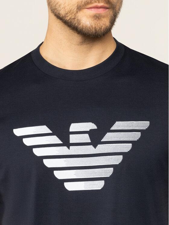Emporio Armani Emporio Armani Marškinėliai 3H1TD0 1J30Z 0922 Tamsiai mėlyna Regular Fit
