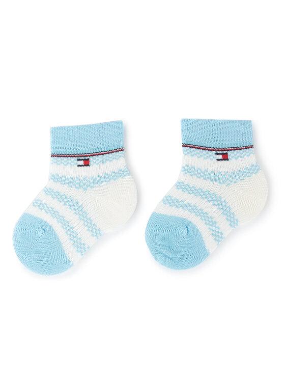 Tommy Hilfiger Tommy Hilfiger Set de 3 perechi de șosete lungi pentru copii 495001001 Albastru