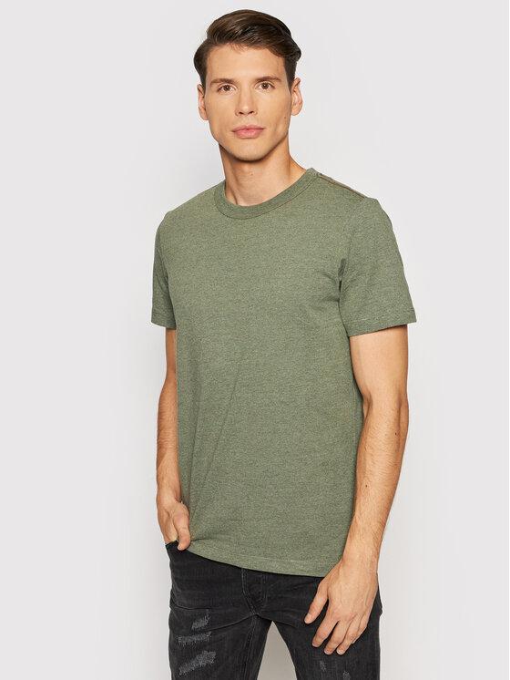 Jack&Jones PREMIUM Marškinėliai Blubowery 12194103 Žalia Regular Fit