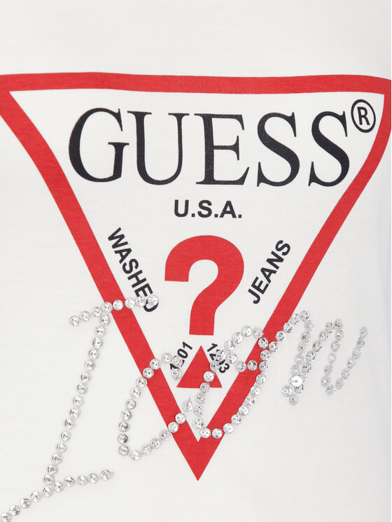 Guess Guess Тишърт W92I59 K75R0 Бял Slim Fit