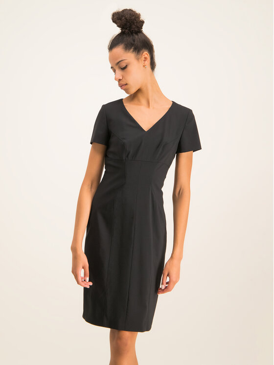Hugo Hugo Φόρεμα καθημερινό Kudera 50421972 Μαύρο Slim Fit