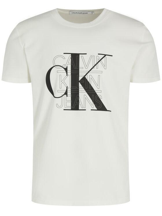Calvin Klein Jeans Calvin Klein Jeans Тишърт CK Graphic J30J314229 Бял Slim Fit