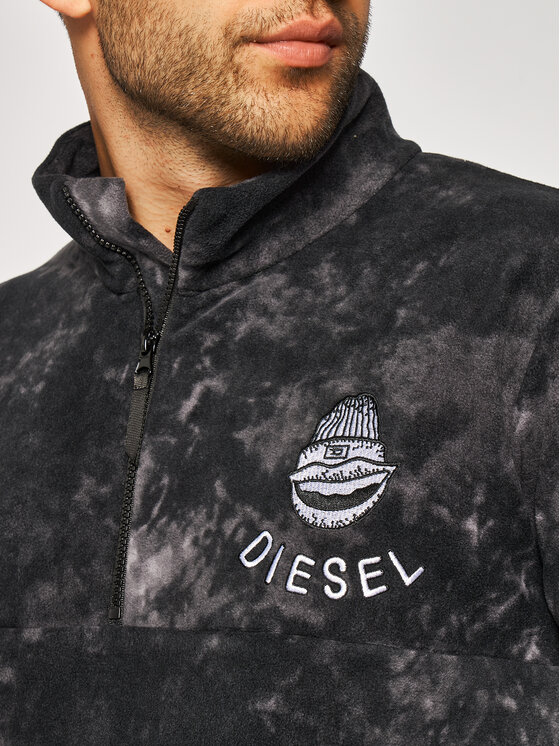 Diesel Diesel Fliso džemperis Umlt-Tydemax 00SA2W 0WAWB Pilka Regular Fit