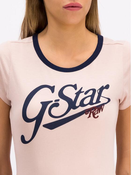 G-Star RAW G-Star RAW T-Shirt D14704-4107-7176 Ροζ Slim Fit