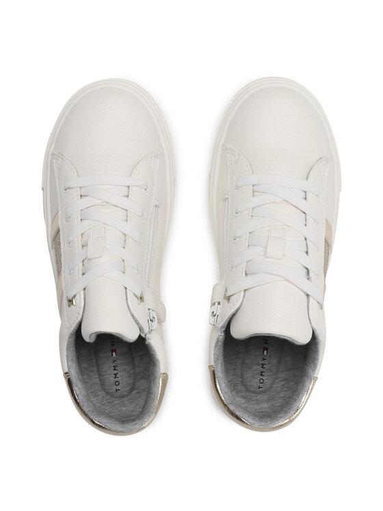 Tommy Hilfiger Tommy Hilfiger Sneakersy Low Cut Lace-Up Sneaker T3A4-31023-0813 S Biały
