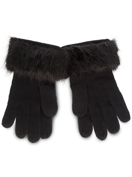 Trussardi Trussardi Γάντια Γυναικεία Gloves Knitted Ecofur 59Z00115 9Y099999 Μαύρο