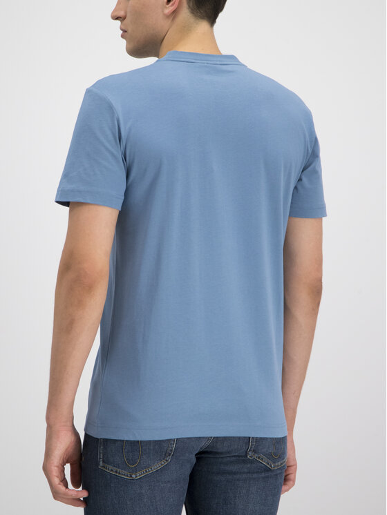 Calvin Klein Calvin Klein T-Shirt Logo Embroidery K10K103076 Modrá Regular Fit