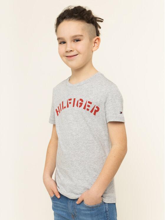 Tommy Hilfiger Tommy Hilfiger T-Shirt Graphic Tee KB0KB05427 D Šedá Regular Fit