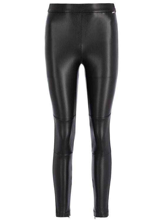 Guess Guess Műbőr nadrág W94B72 WBG60 Fekete Slim Fit