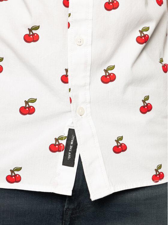 Vans Vans Hemd Cherries VN0A49PKWHT1 Weiß Classic Fit
