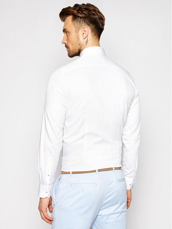 Tommy Hilfiger Tailored Tommy Hilfiger Tailored Koszula Solid MW0MW16489 Biały Slim Fit