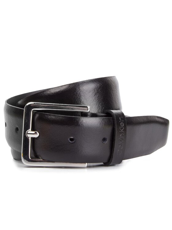 Calvin Klein Calvin Klein Cintura da uomo 3.5Cm Adj. Bombed Belt K50K504480 Nero
