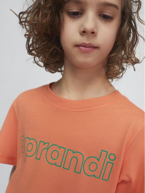 Sprandi Sprandi T-Shirt SS21-TSB003 Pomarańczowy Regular Fit