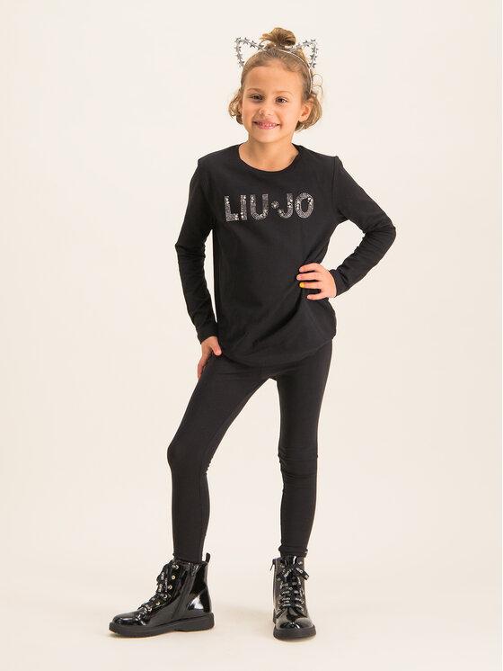 Liu Jo Kids Liu Jo Kids Bluzka G69010 J0088 Czarny Regular Fit