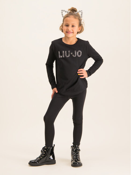 Liu Jo Kids Liu Jo Kids Μπλουζάκι G69010 J0088 Μαύρο Regular Fit