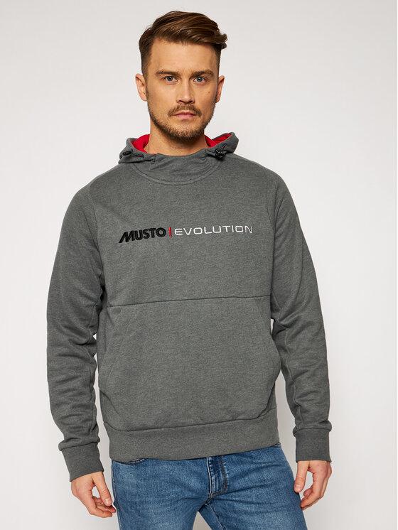 Musto Džemperis Evo Logo 82043 Pilka Regular Fit