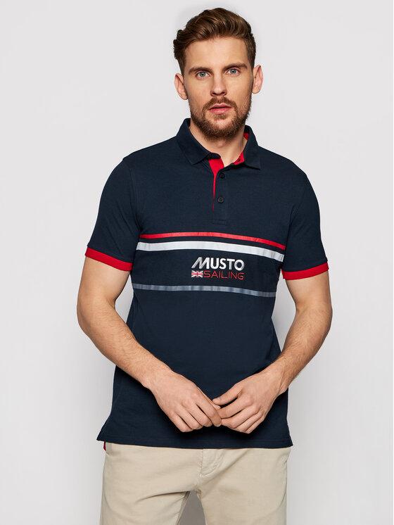 Musto Polo marškinėliai Amalfi 82017 Tamsiai mėlyna Regular Fit