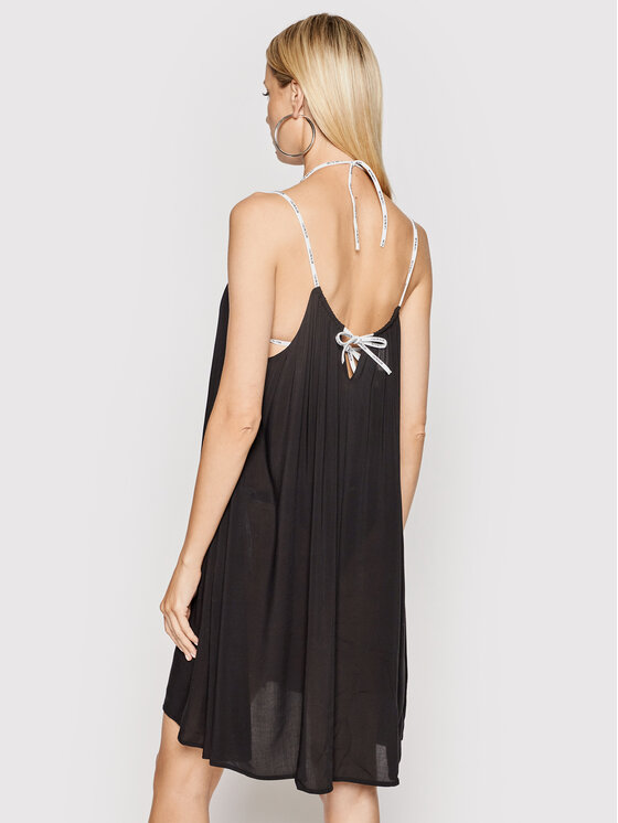 Calvin Klein Swimwear Calvin Klein Swimwear Sukienka plażowa KW0KW01365 Czarny Relaxed Fit