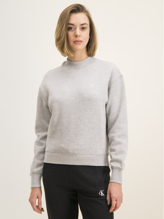 Calvin Klein Jeans Calvin Klein Jeans Sweatshirt Embroidered Logo J20J212875 Gris Regular Fit