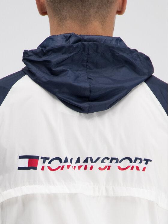 Tommy Sport Tommy Sport Ветровка S20S200143 Бял Regular Fit