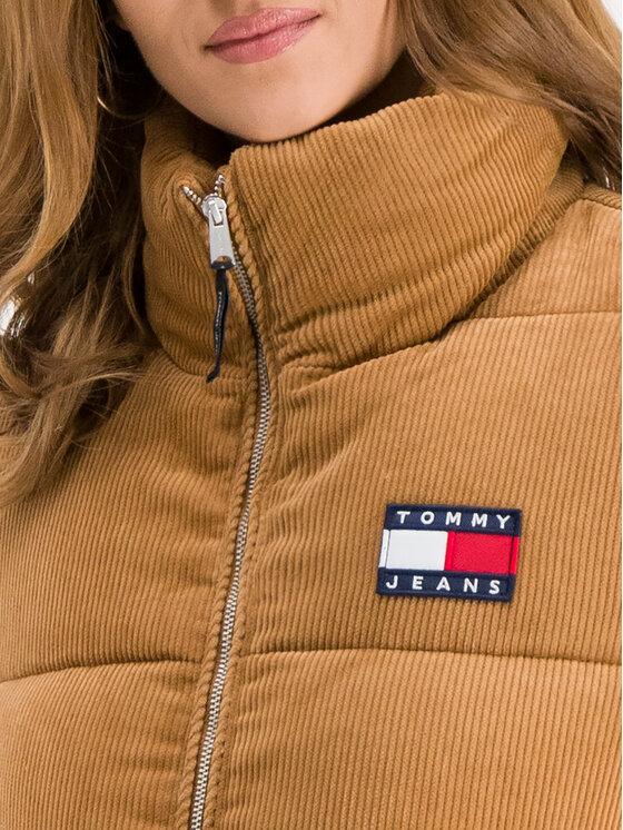 Tommy Jeans Tommy Jeans Kurtka puchowa Corduroy DW0DW07102 Brązowy Regular Fit