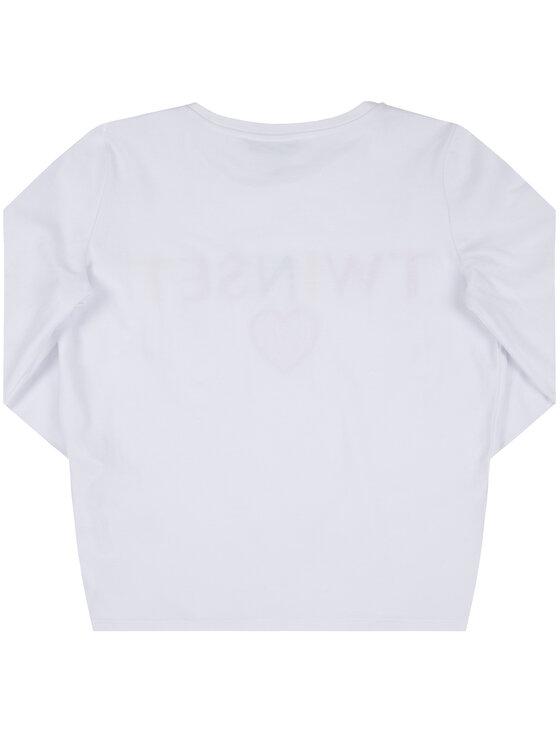 TWINSET TWINSET Bluză 999GJ2010 Alb Regular Fit