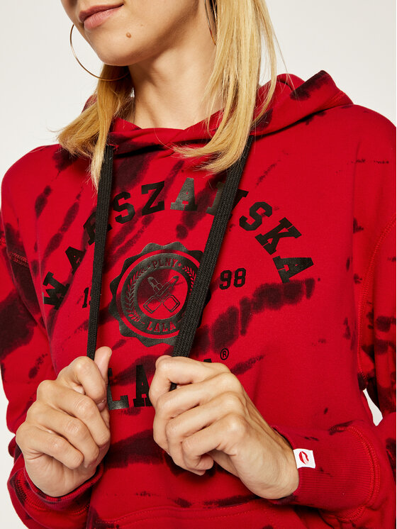 PLNY LALA PLNY LALA Μπλούζα Warszawska Lala Tie Dye Goodie PL-BL-OO-00070 Κόκκινο Regular Fit