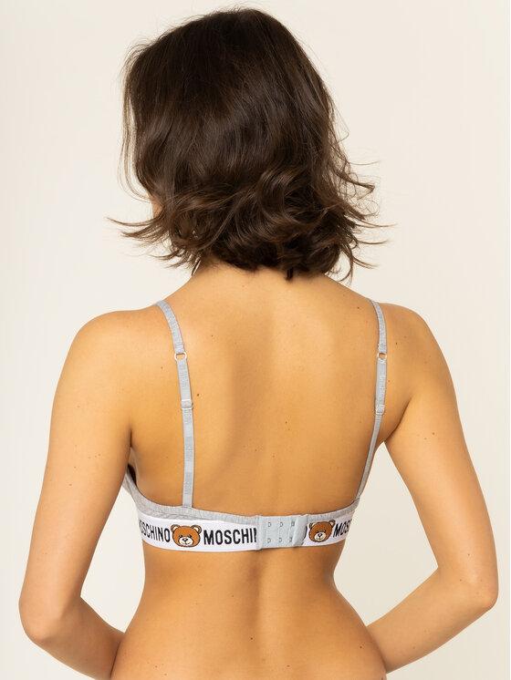 MOSCHINO Underwear & Swim MOSCHINO Underwear & Swim Podprsenka s kosticemi A4615 9003 Šedá