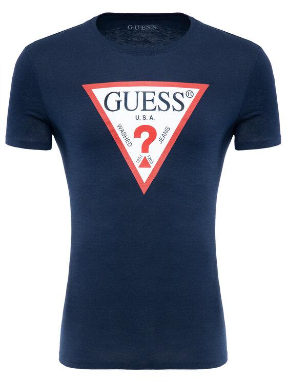 Guess Guess Tricou M92I17 K6XN0 Bleumarin Slim Fit